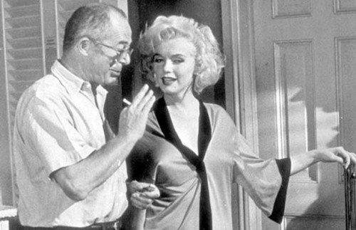 Billy Wilder e Marylin Monroe sul set