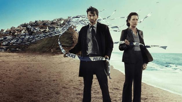 David Tennant e Olivia Colman nei panni dei detective Alec Hardy e Ellie Miller.