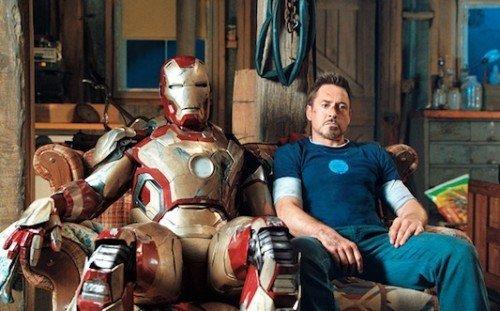 "Robert Downey Jr. in una scena di ""Iron Man 3."""