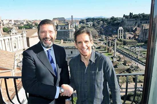 Ignazio Marino e Ben Stiller.