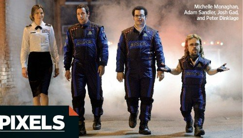 Online il teaser trailer di Pixels con Michelle Monaghan, Adam Sandler, Joshua Gad e Peter Dinklage.