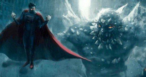 una possibile immagine di superman e doomsday