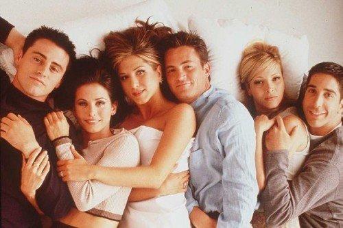 Il cast di Friends, sit-com andata in onda dal 1994 al 2004.