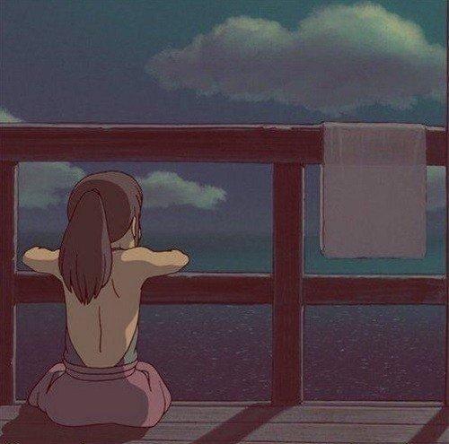 Chihiro in una scena del film