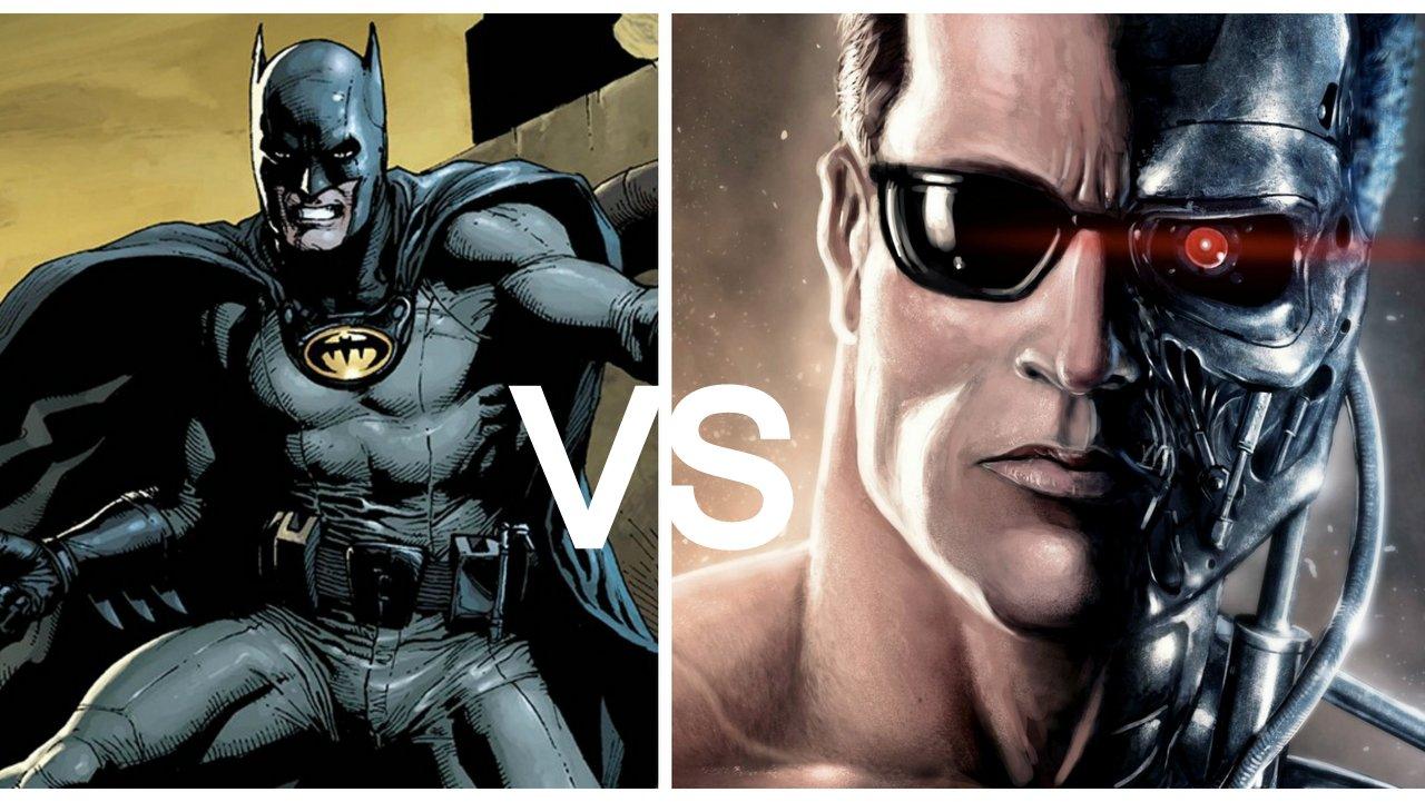 batman vs terminator battaglia in un geniale corto in. Black Bedroom Furniture Sets. Home Design Ideas