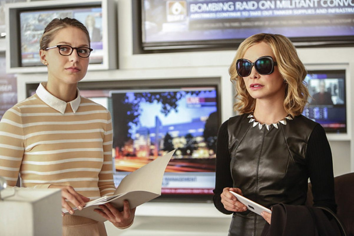 cat grant meets supergirl trailer