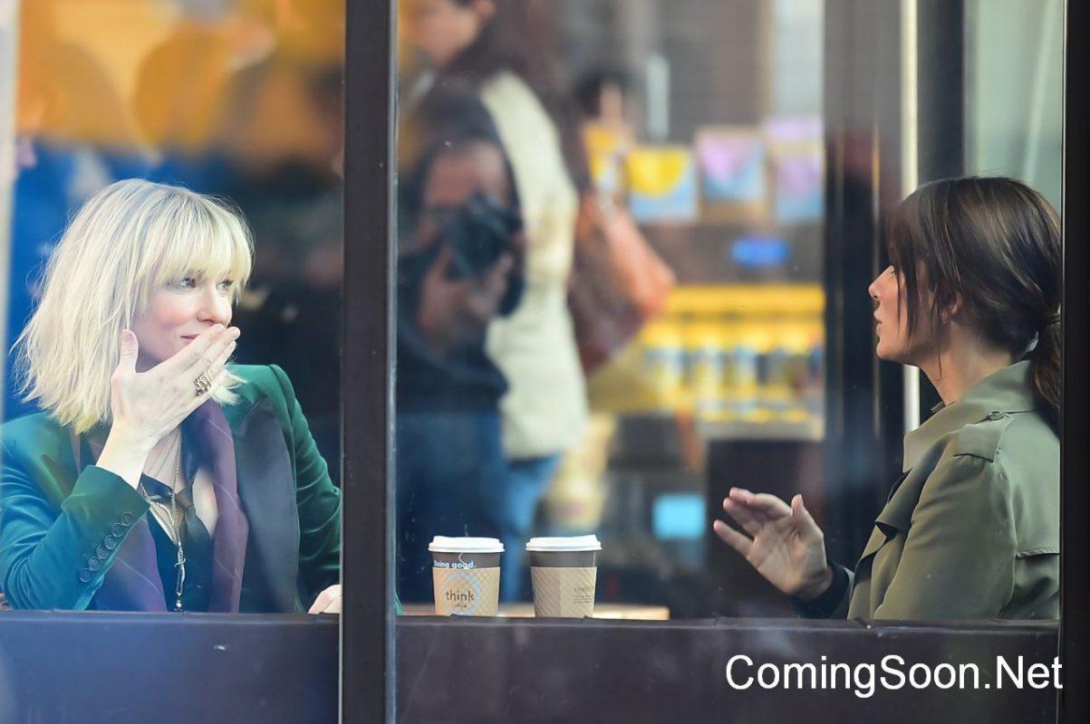 Ocean's 8: Sandra Bullock e Cate Blanchett nelle foto dal set