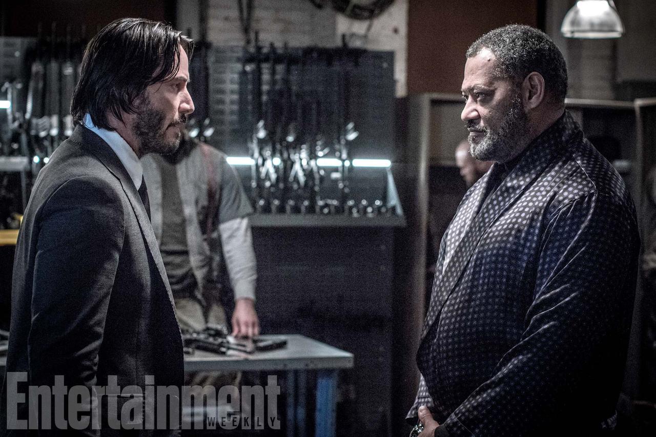 Keanu Reeves e Laurence Fishburne nella nuova foto di John Wick: Chapter 2