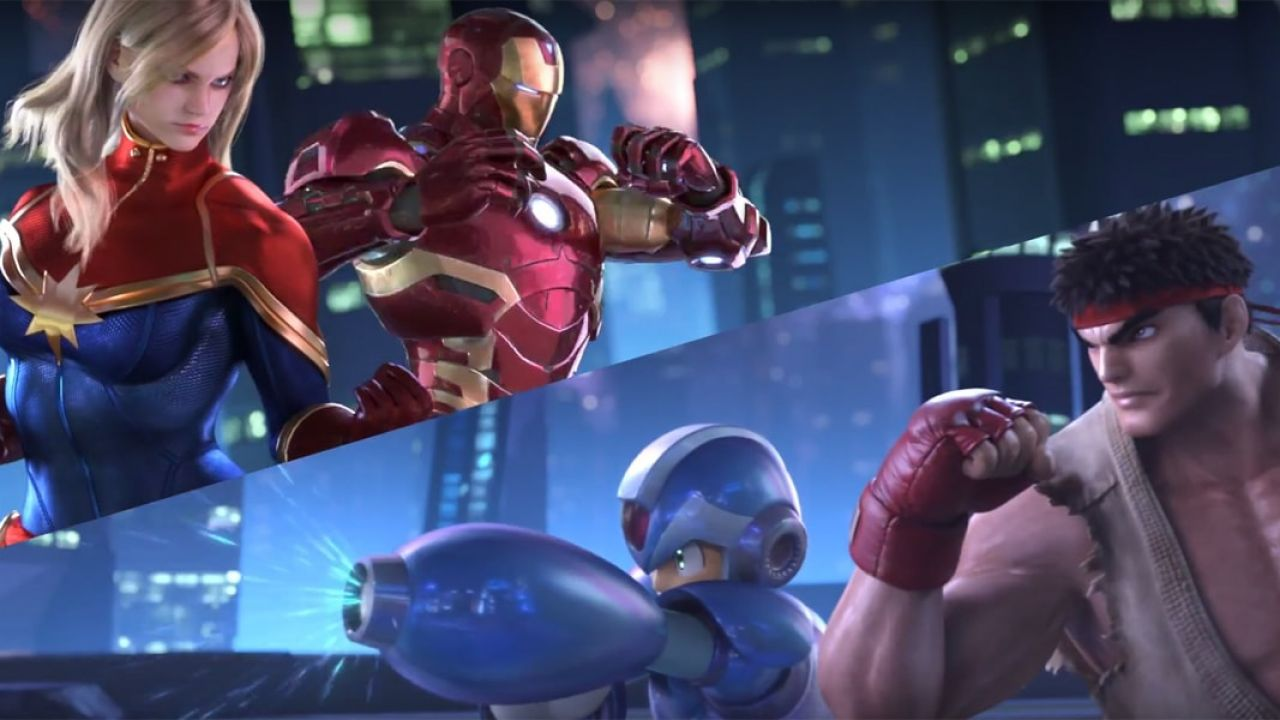 Spider-Man, Frank West, Nemesis e Haggar in Marvel vs. Capcom: Infinite