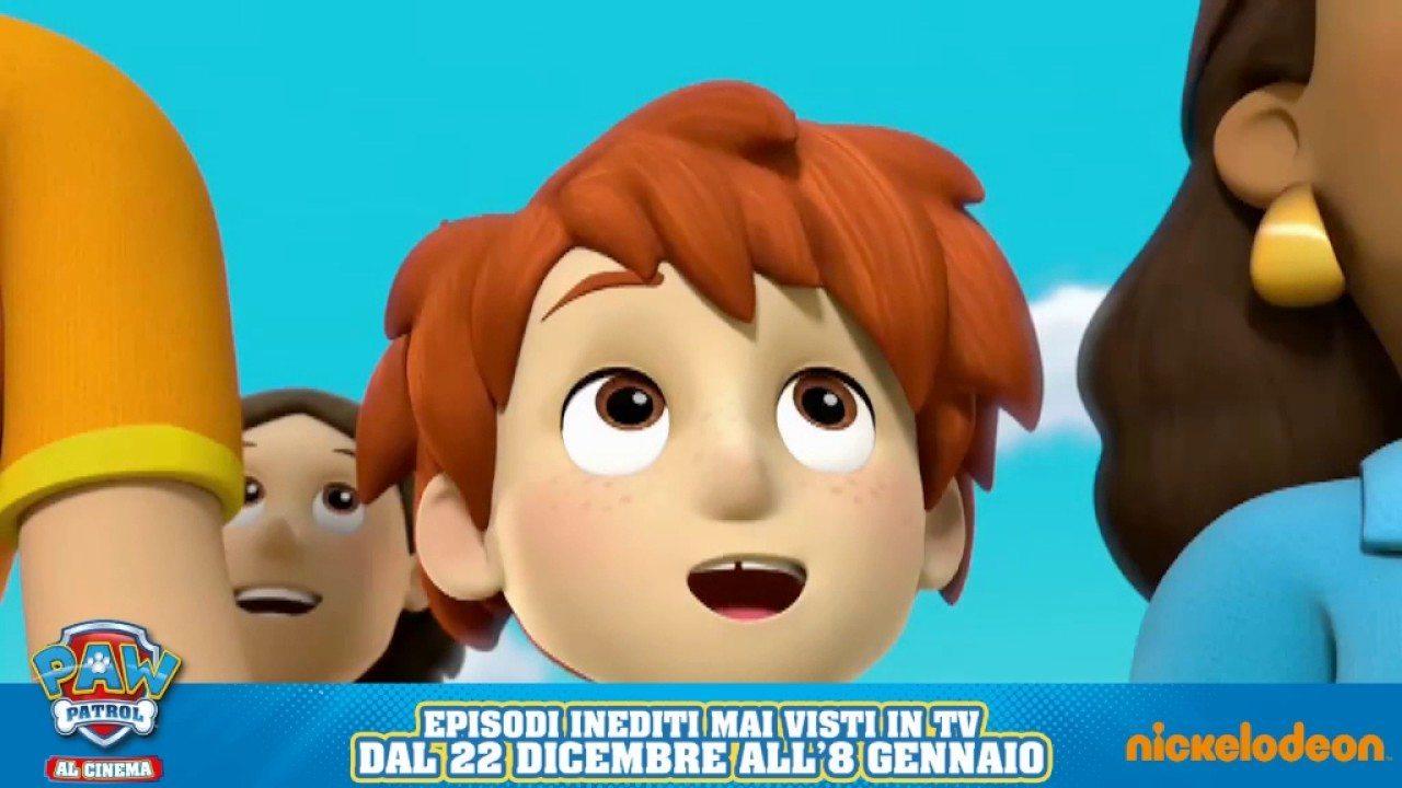 Paw patrol due clip e sinossi del cartone animato al cinema dal 22