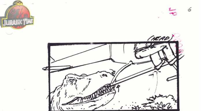 Elicottero Jurassic Park : Jurassic park alcuni storyboard inediti svelano un finale