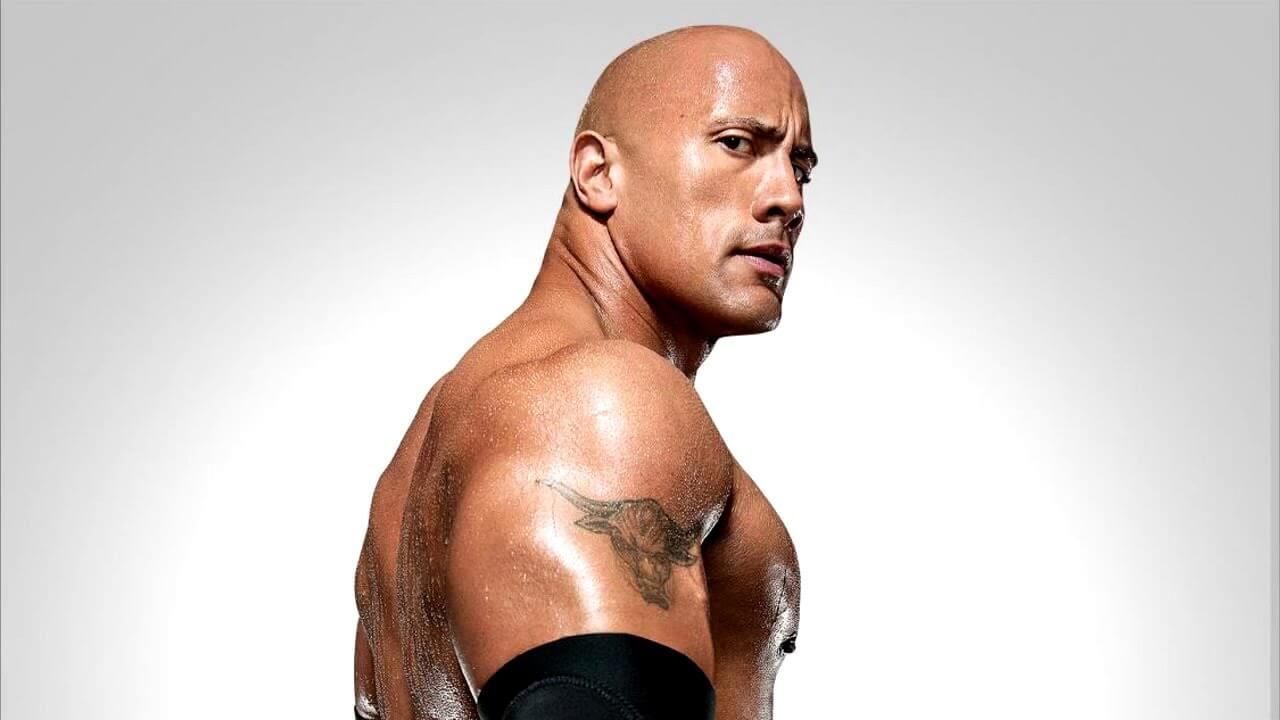 dwayne johnson foto fighting with my family