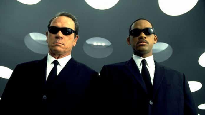 men in black, cinematographe