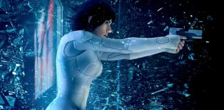 ghost in the shell scarlett johansson spot tv poster