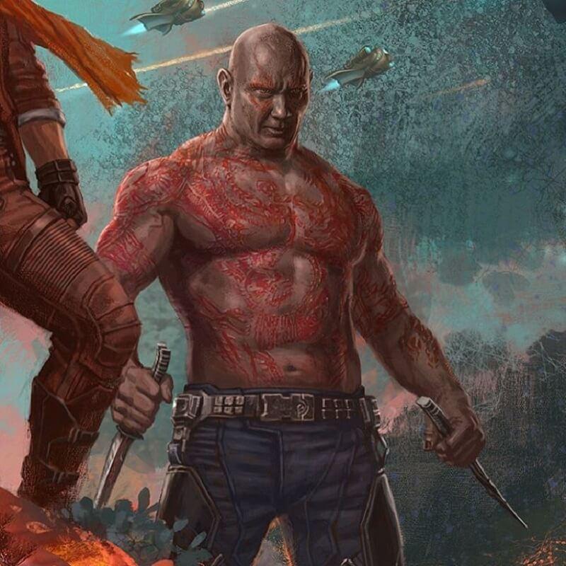 Guardiani della Galassia Vol. 2: Mantis e Drax nei nuovi concept art