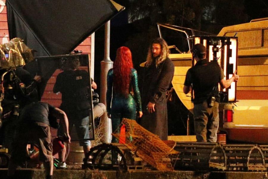 Aquaman: Jason Momoa e Amber Heard insieme nelle nuove foto dal set