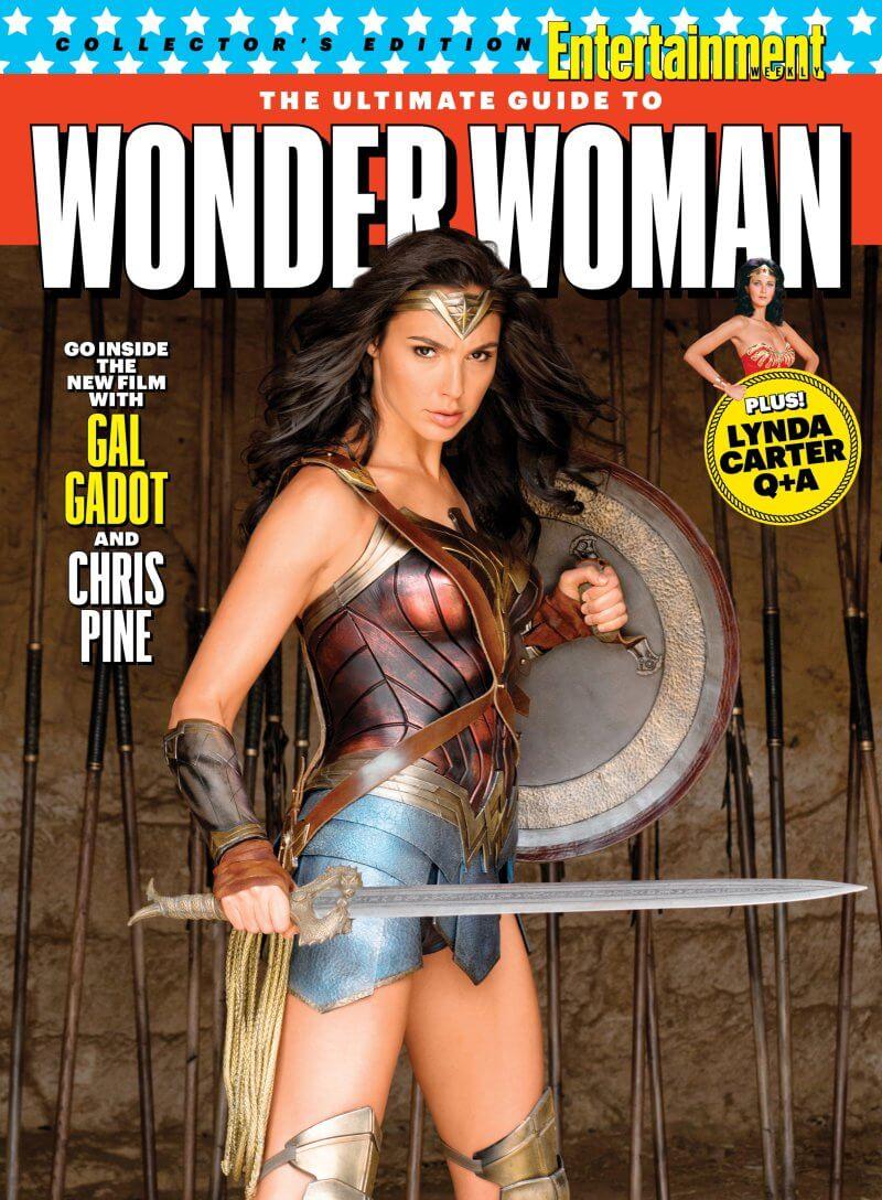 Gal Gadot impugna spada e scudo nella nuova cover con Wonder Woman