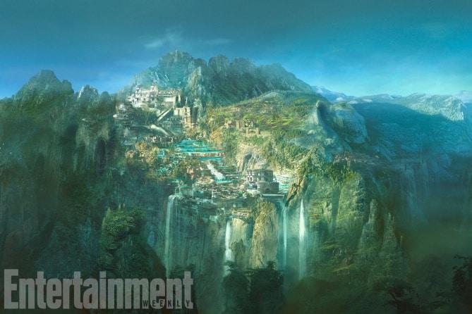 Themyscira, l'isola di Wonder Woman, nel nuovo concept art del film