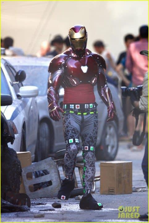 Avengers: Infinity War - nuove foto svelano maggiori dettagli sull'armatura di Iron Man