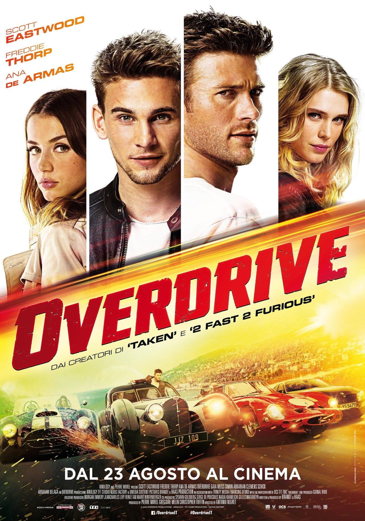 Overdrive – il poster italiano del film con Scott Eastwood