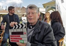 Stephen King on set