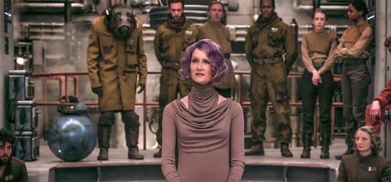 star wars: gli ultimi jedi laura dern