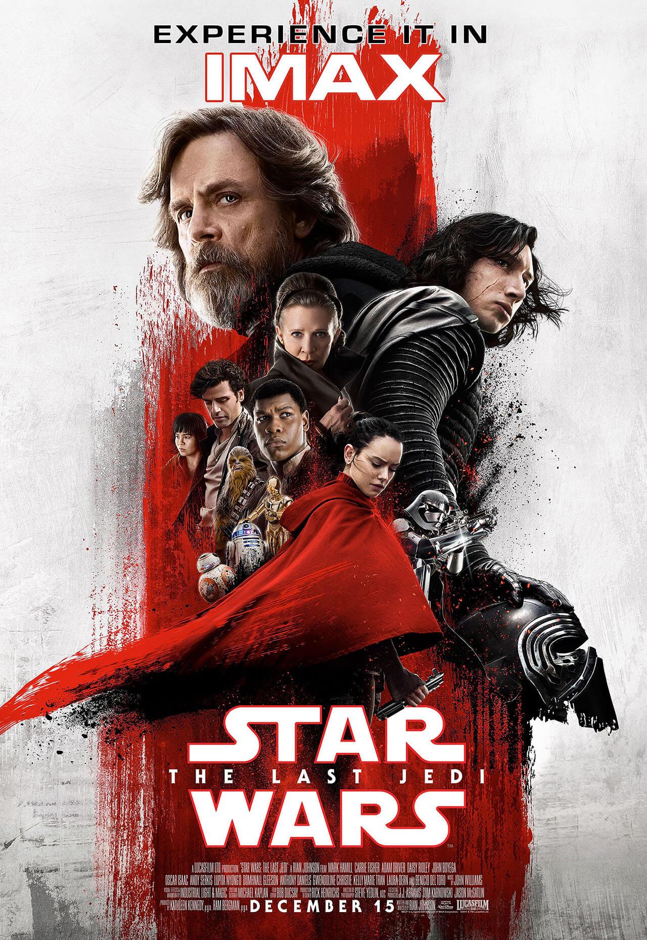 star wars: gli ultimi jedi poster imax rey