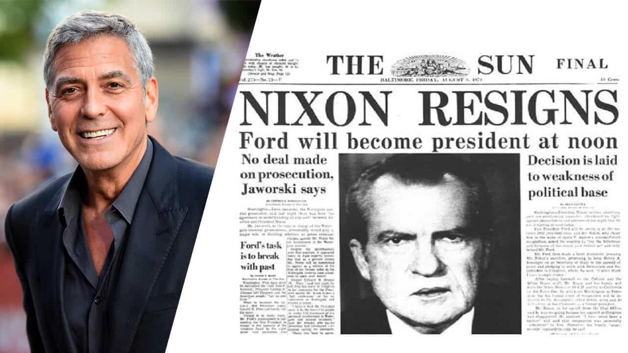 George clooney a lavoro su una serie sullo scandalo for Scandalo di watergate