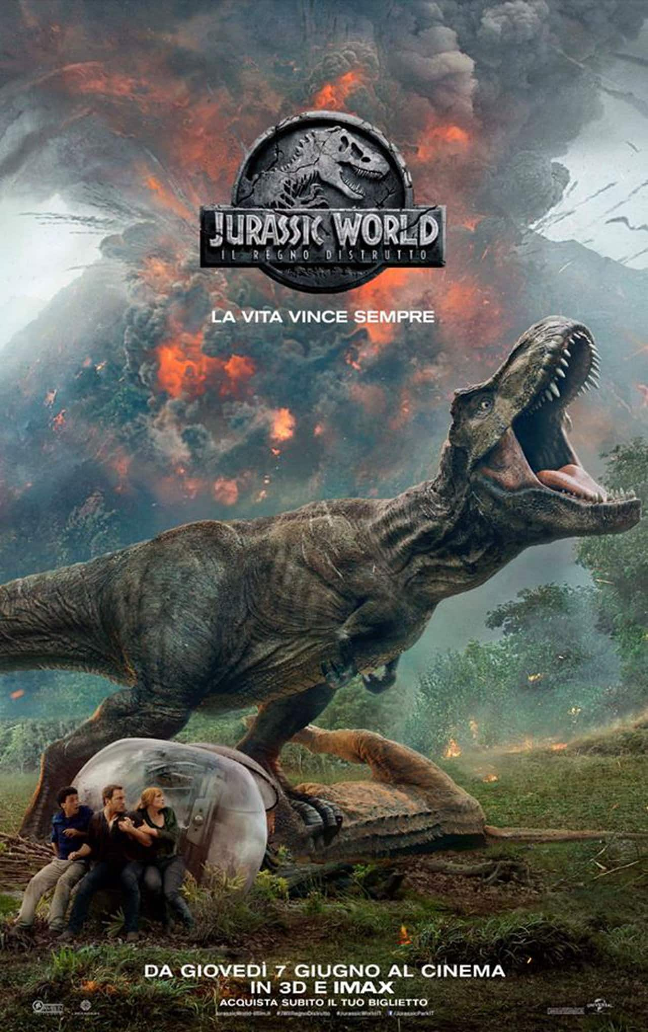 Jurassic World Il Regno Distrutto teaser poster ita, cinematographe.it