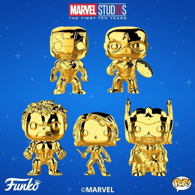 Marvel 10 ANNIVERSARIO PANTERA NERA ORO CROMO-IN STOCK Funko Pop