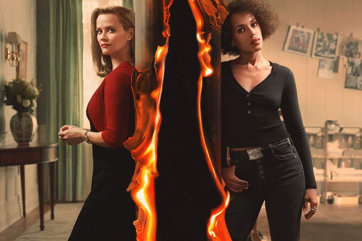 Little Fires Everywhere (Tanti Piccoli Fuochi). Elena Richardson (Reese Witherspoon) e  Mia Wright (Kerry Washington) sono le protagoniste della serie TV su Amazon Prime