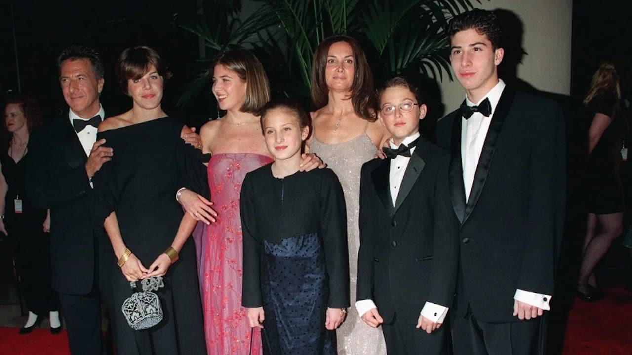 Dustin Hoffman insieme ai figli