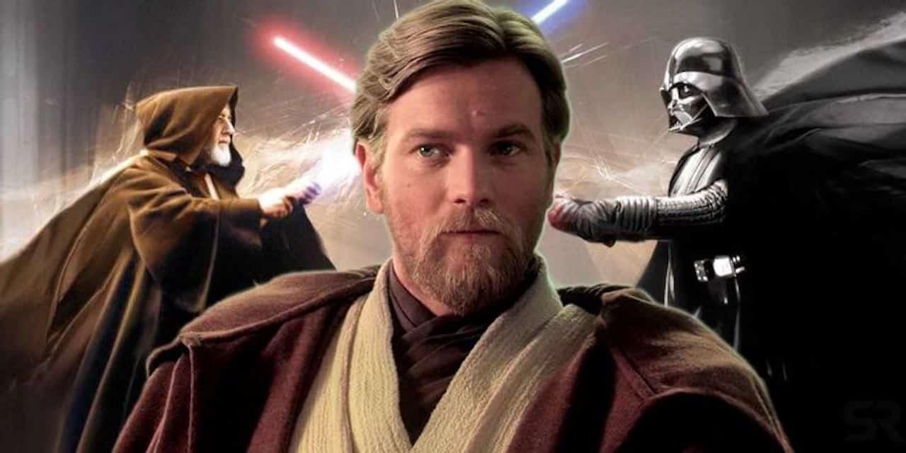 Ewan McGregor nei panni di Obi-Wan Kenobi affronta Vader