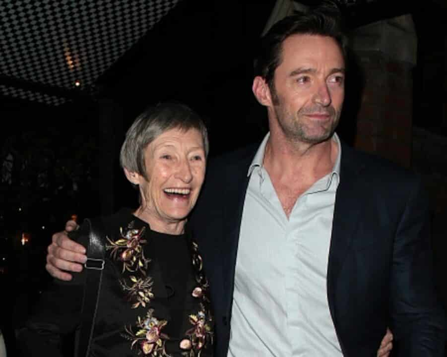 Hugh Jackman insieme alla madre