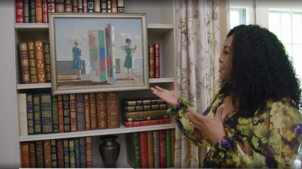 Shonda Rhimes mostra un suo quadro