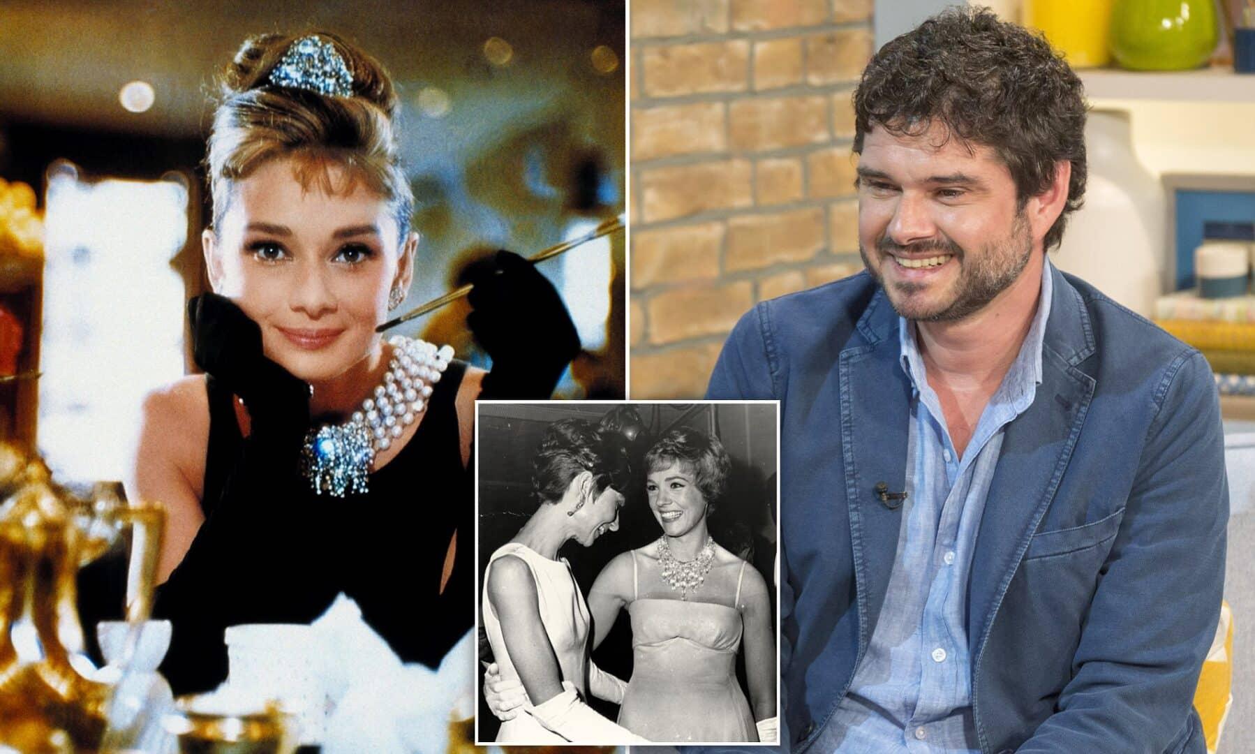 collage con Audrey Hepburn e il figlio Luca Dotti