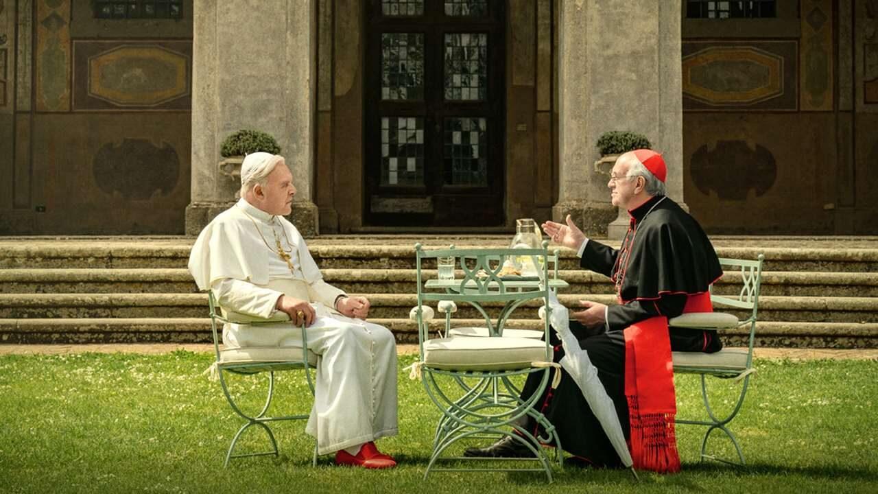 the two popes Anthony Hopkins cinematographe.it
