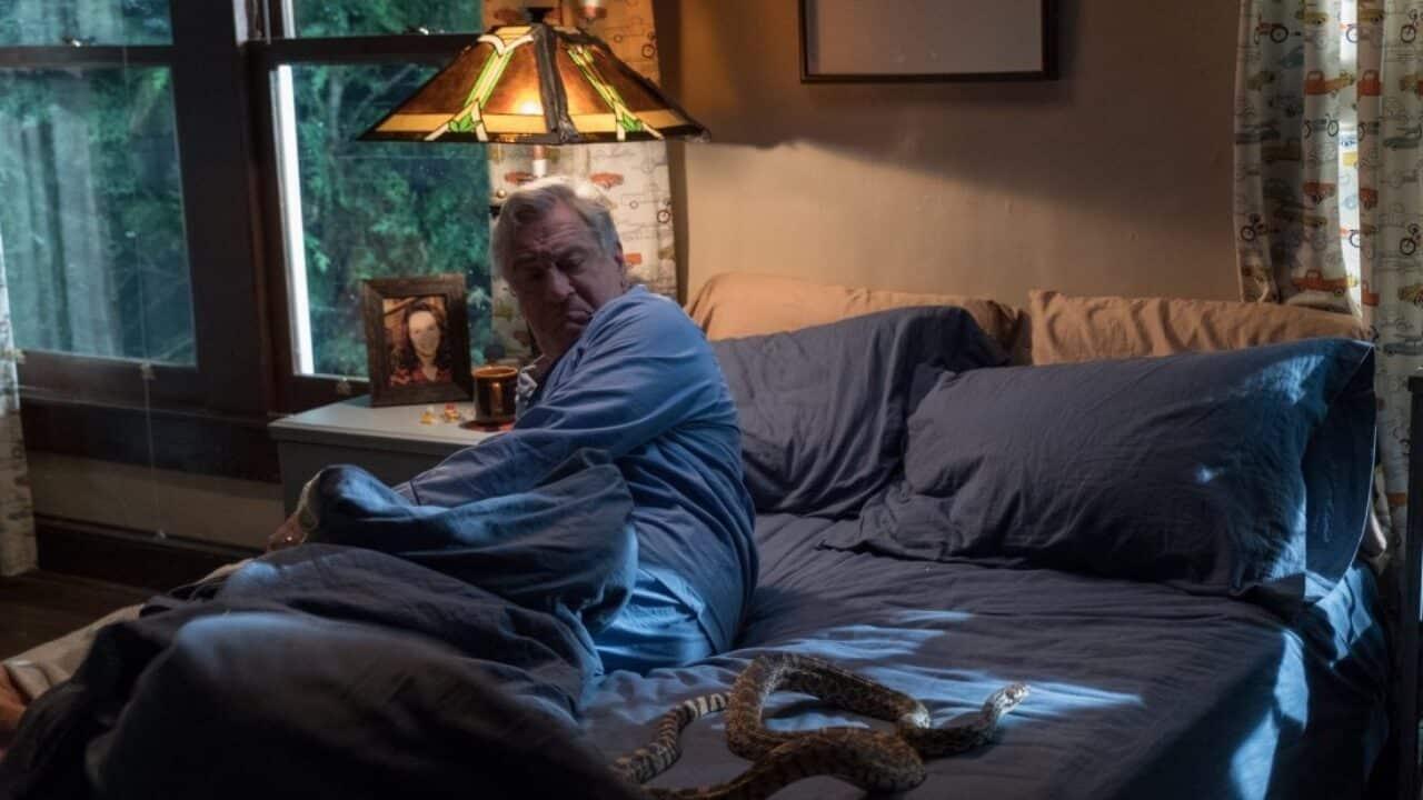 Robert De Niro trova un serpente nel letto in Nonno questa volta è guerra
