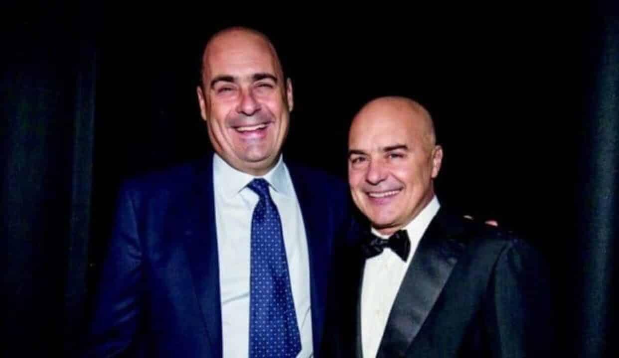 Luca Zingaretti con il fratello Nicola