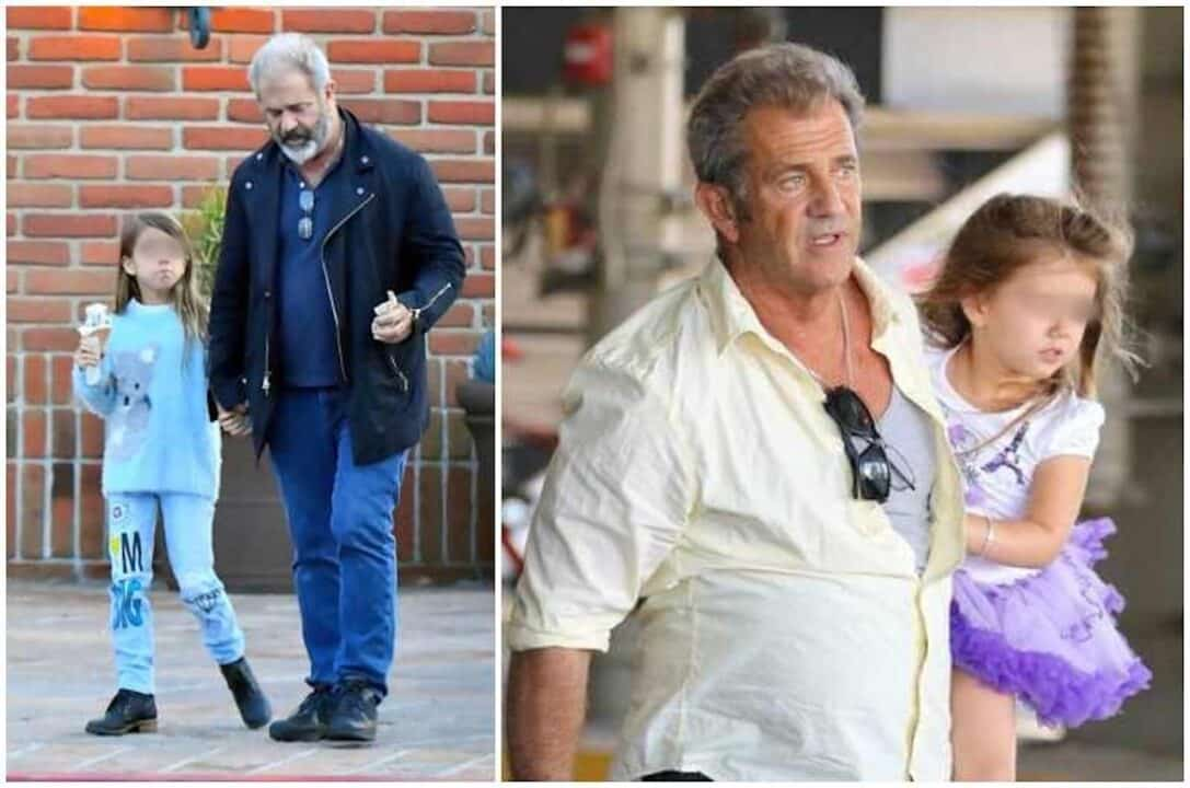 Mel Gibson insieme alle sue due ultime figlie