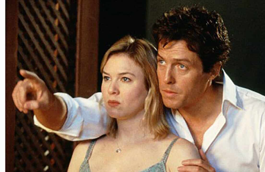 Hugh Grant e Renée Zellweger in Bridget Jones