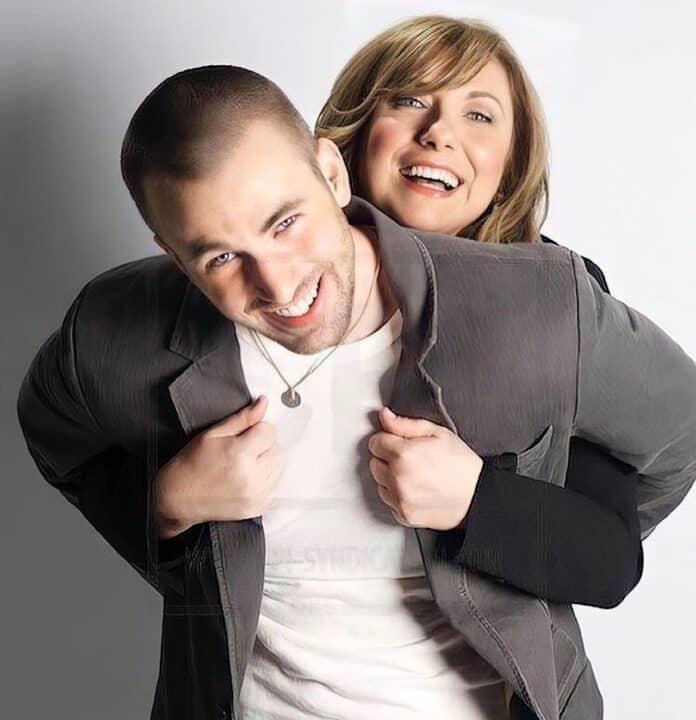 Chris Evans con la mamma